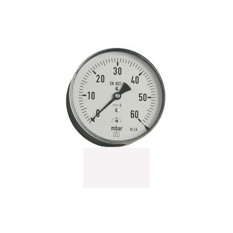 """Manometr RF50 G1/4""""A zadní připojení 0-6B"""