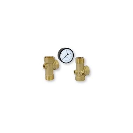 Tvarovka - pěticestný ventil 1'' 80mm, manometr 0-6bar