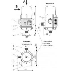 Alfapumpy PUMPKONTROL PS01 vč. kabelů se zásuvkou a vydlicí