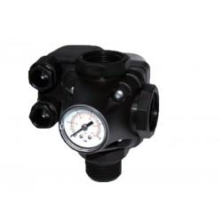 Tlakový spínač PM/5-3W 230V (tlakový spínač s manometrem a třícestnou armaturou - uzel)